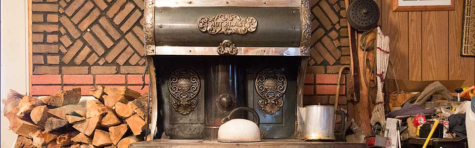 Wood cook stove picture