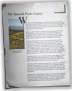 Spanish Peaks Legacy article